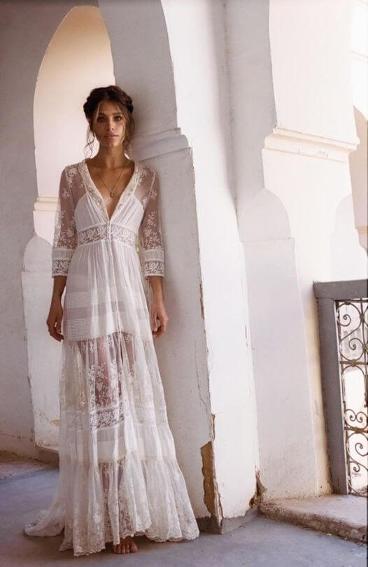 Dreamy bohemian wedding dresses in perfect soft lace with for Bohemian wedding dress shops