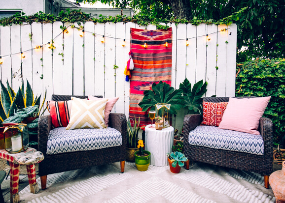 How To Create Your Own Perfect Boho Outdoor Styled Patio
