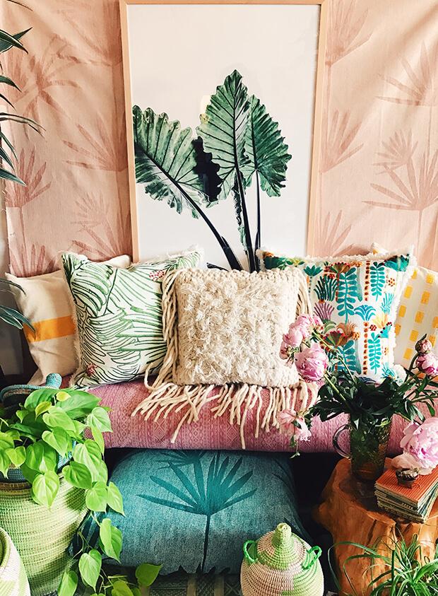 colorful bohemian fabrics