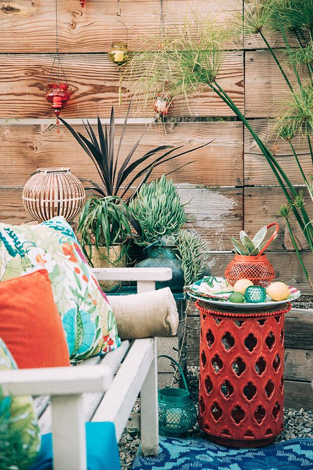 bohemian decor outdoor