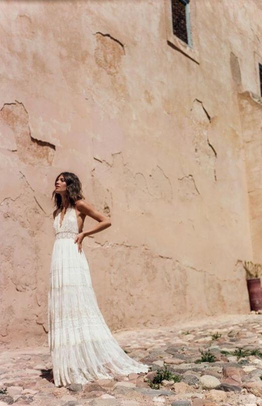 Bohemian wedding dresses lace