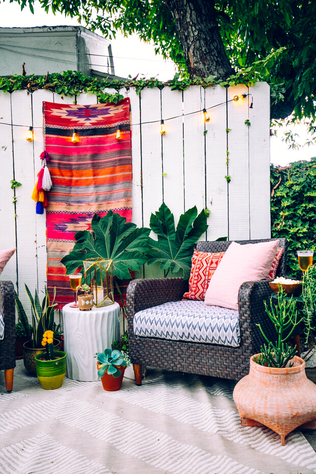 bohemian decor outside