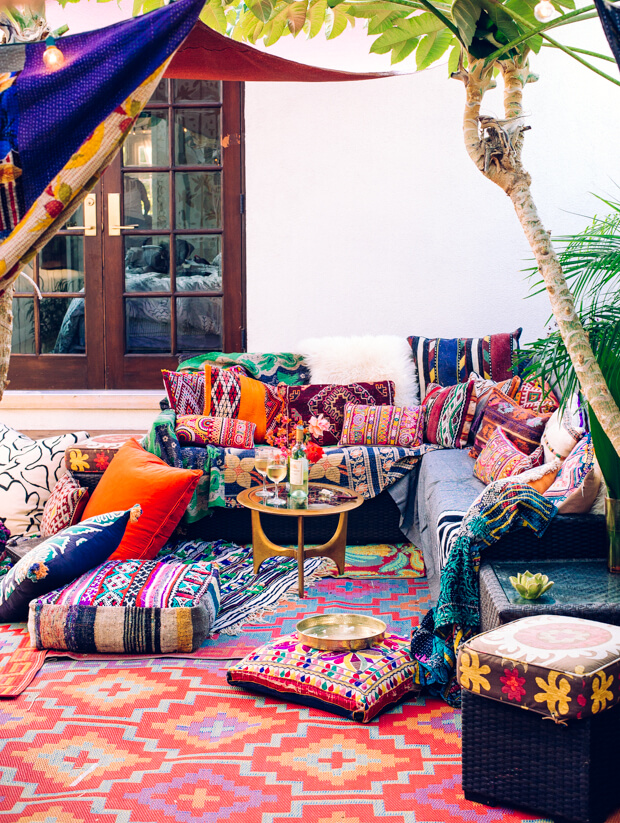 bohemian outdoor decor