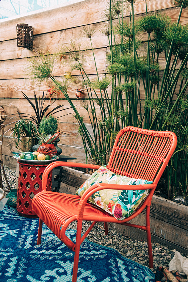 bohemian decor outdoor