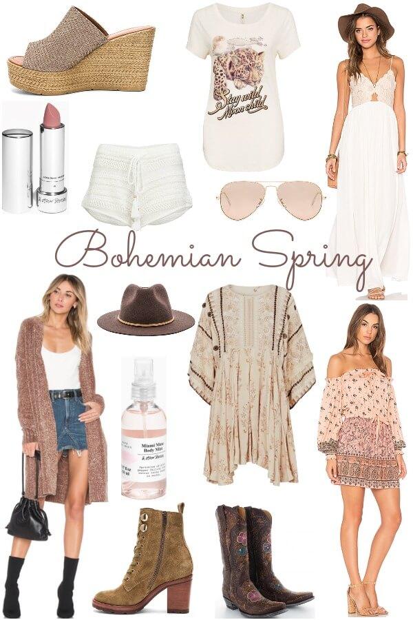 bohemian spring look