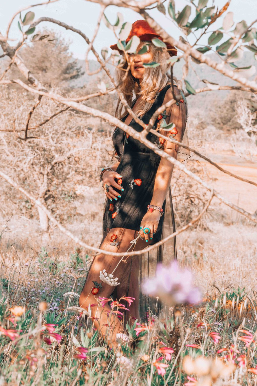 romantic bohemian dress