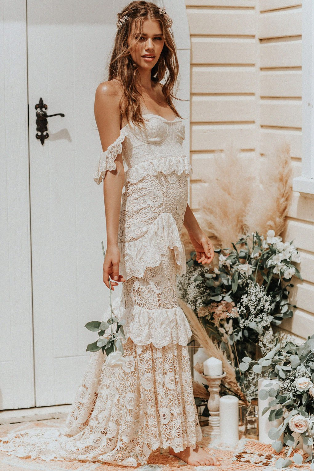 romantic boho wedding dresses
