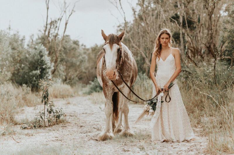 romantic boho wedding dresses