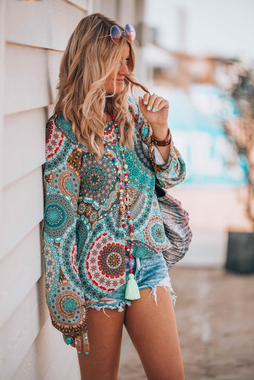 colourful bohemian tunic