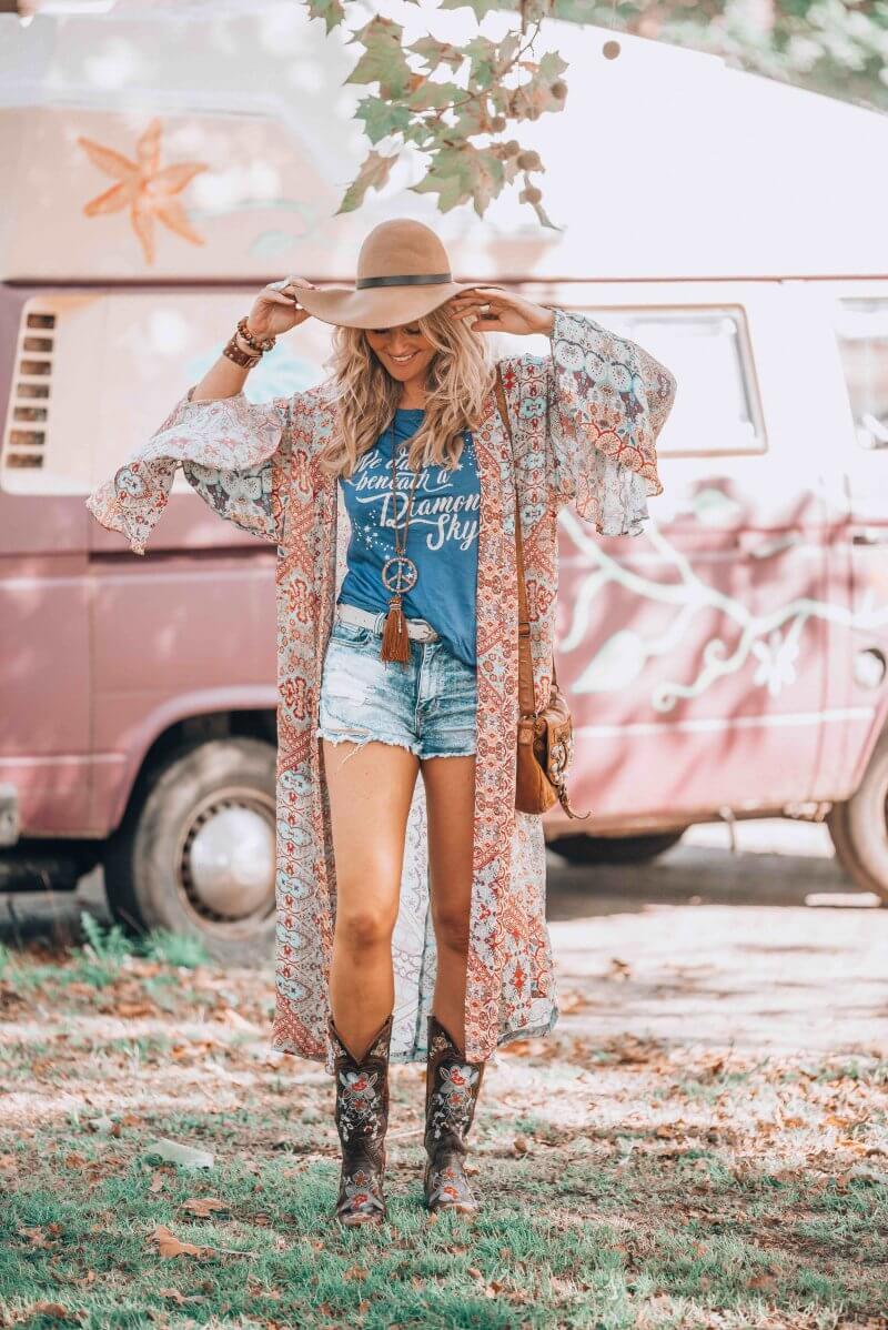 hippie chic look