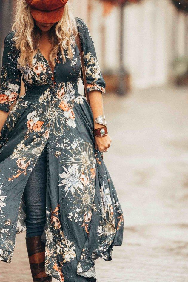 boho-chic maxi dress