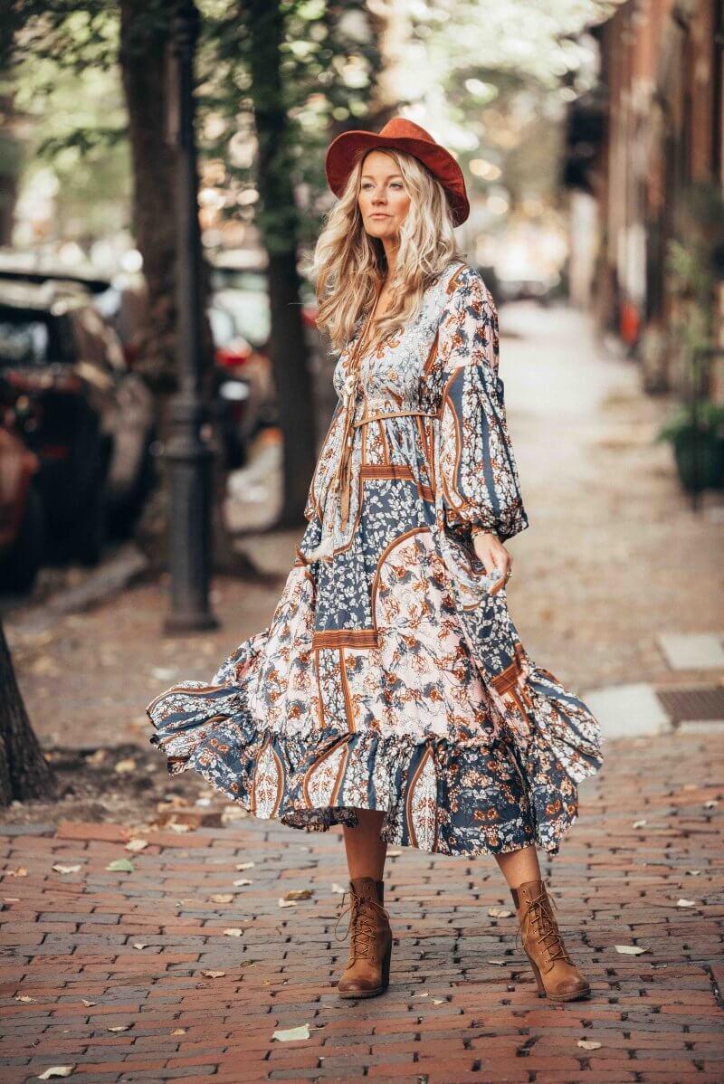Boho chic autumn style