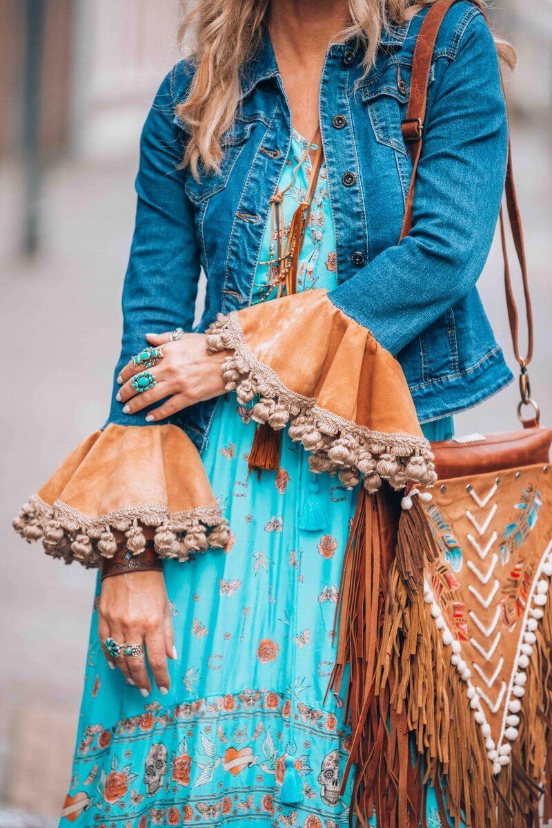 bohemian fringe bag