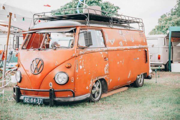 hippie van festival