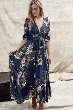 Indigo Maxi Dress