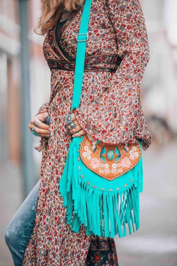 bohemian winter style look