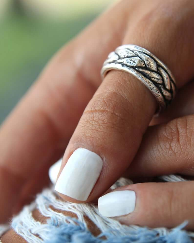 silver ring bohemian jewelry