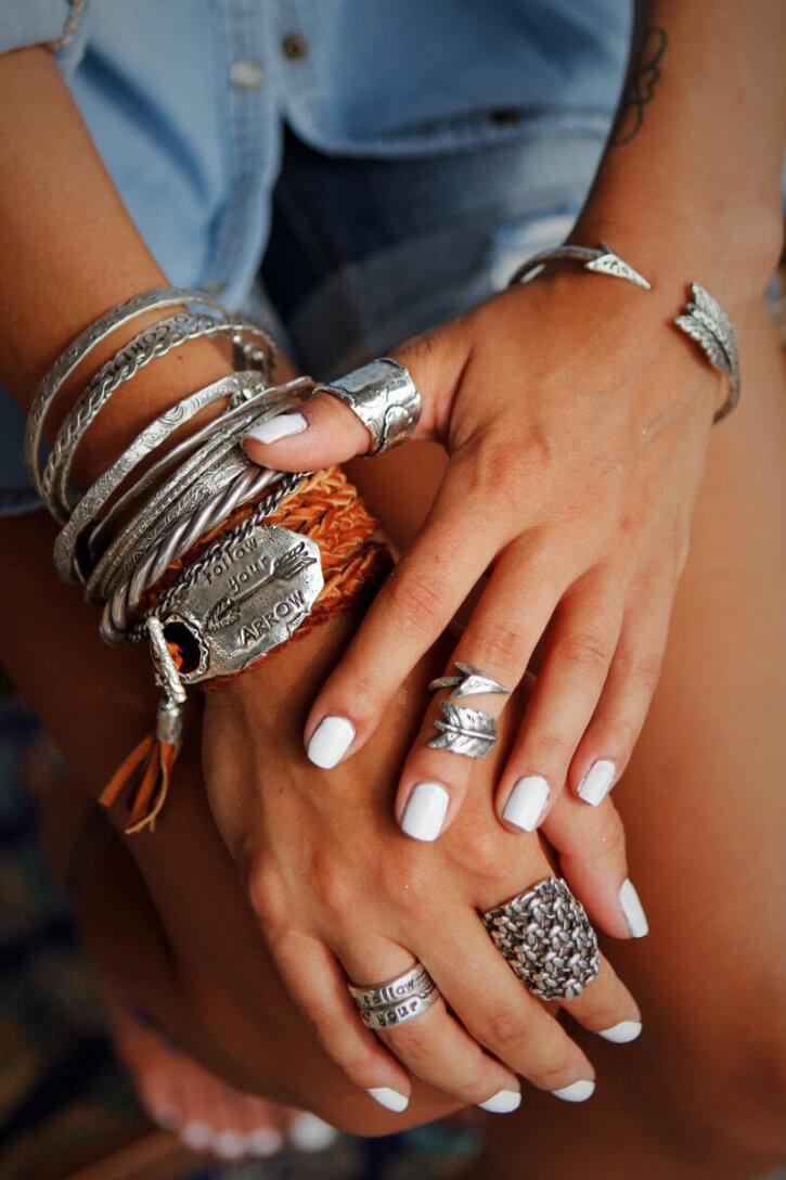 silver boho jewelry