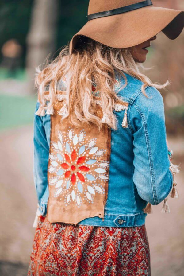 embellished jeans jacket