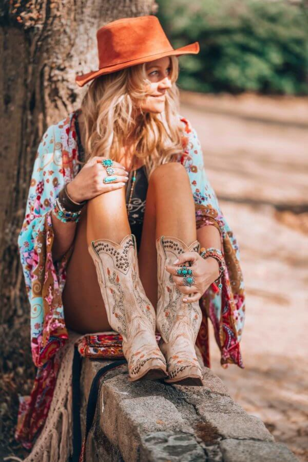 The Bohemian Way to Style Your Western Boots