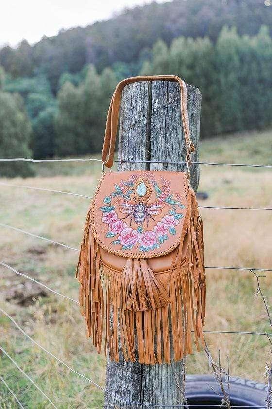 bohemian hand painted bag