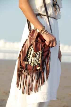 Brown leather bag