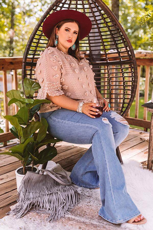 plus size boho style outfit